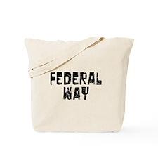 Federal Way Faded (Black) Tote Bag