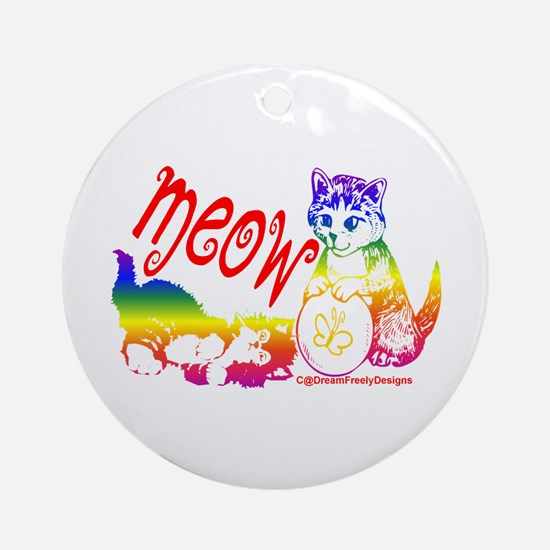 Meow Ornament (Round)
