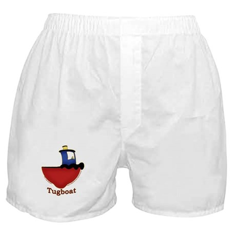 Cute Tugboat Picture Boxer Shorts