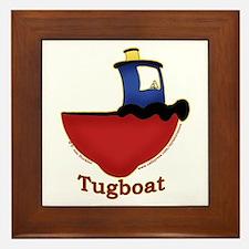 Cute Tugboat Picture Framed Tile