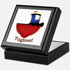 Cute Tugboat Picture Keepsake Box