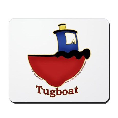Cute Tugboat Picture Mousepad