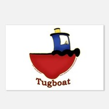 Cute Tugboat Picture Postcards (Package of 8)