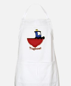Cute Tugboat Picture BBQ Apron