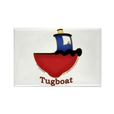 Cute Tugboat Picture Rectangle Magnet