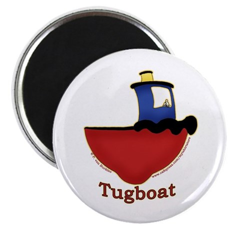 Cute Tugboat Picture Magnet