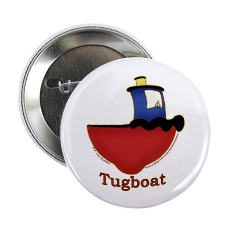 """Cute Tugboat Picture 2.25"""" Button (10 pack)"""