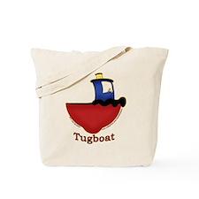 Cute Tugboat Picture Tote Bag