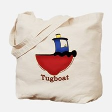 Cute Tugboat Picture Tote Bag