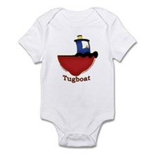 Cute Tugboat Picture Infant Bodysuit