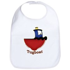 Cute Tugboat Picture Bib