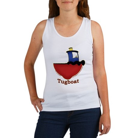Cute Tugboat Picture Women's Tank Top