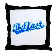 Retro Belfast (Blue) Throw Pillow