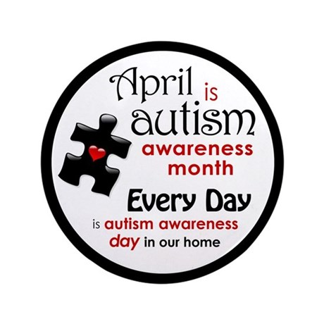 """April Every Day (K) 3.5"""" Button (100 pack)"""