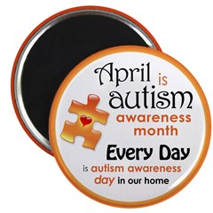 """April Every Day (O) 2.25"""" Magnet (10 pack)"""
