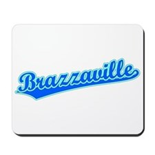Retro Brazzaville (Blue) Mousepad