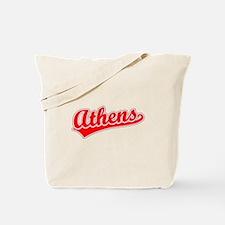 Retro Athens (Red) Tote Bag