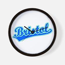 Retro Bristol (Blue) Wall Clock