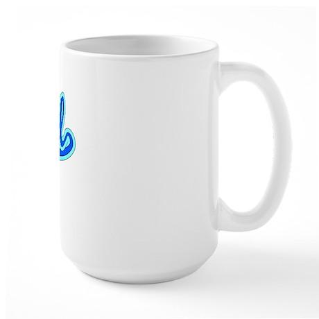 Retro Bristol (Blue) Large Mug