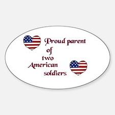 Proud Parent 2 Oval Decal