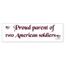 Proud Parent 2 Bumper Car Sticker