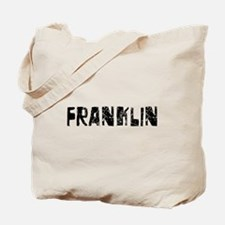 Franklin Faded (Black) Tote Bag