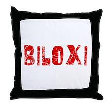 Biloxi Faded (Red) Throw Pillow