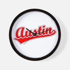 Retro Austin (Red) Wall Clock