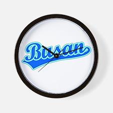 Retro Busan (Blue) Wall Clock