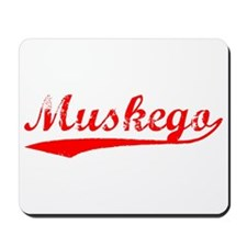 Vintage Muskego (Red) Mousepad