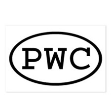 PWC Oval Postcards (Package of 8)
