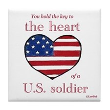 Key to the Heart/Soldier Tile Coaster
