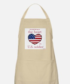 Key to the Heart/Soldier BBQ Apron
