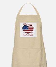Heart of a Soldier 2 BBQ Apron