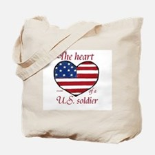Heart of a Soldier 2 Tote Bag