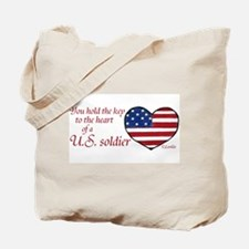 Heart of a Soldier 3 Tote Bag