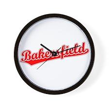 Retro Bakersfield (Red) Wall Clock