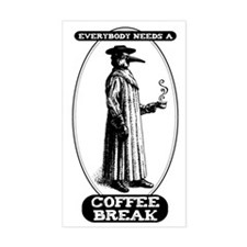 Coffee Break Rectangle Decal