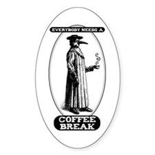 Coffee Break Oval Decal