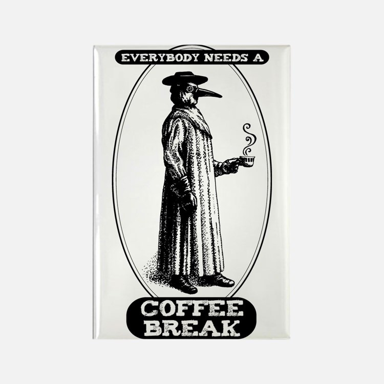 Coffee Break Rectangle Magnet