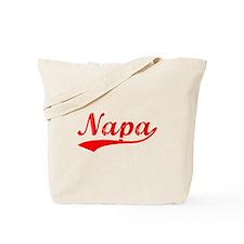 Vintage Napa (Red) Tote Bag