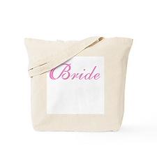 Sheer Elegance Pink Bride Tote Bag