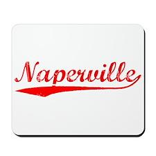 Vintage Naperville (Red) Mousepad