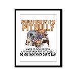 Find the Pit Bull Framed Panel Print