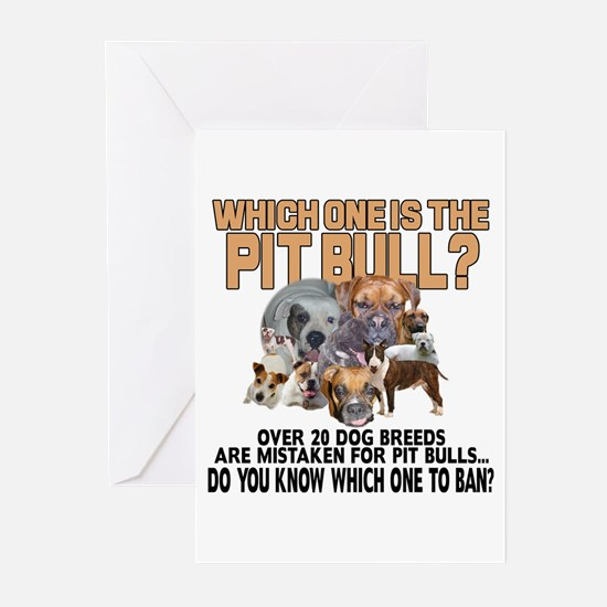 Find the Pit Bull Greeting Cards (Pk of 20)
