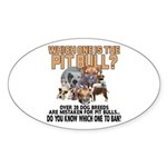 Find the Pit Bull Sticker (Oval 10 pk)