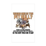 Find the Pit Bull Sticker (Rectangle 10 pk)