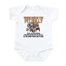 Find the Pit Bull Infant Bodysuit