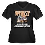 Find the Pit Bull Women's Plus Size V-Neck Dark T-