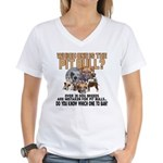 Find the Pit Bull Women's V-Neck T-Shirt